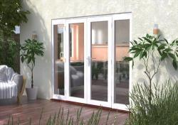 2400mm (8ft) Classic French Doors - 1500 Pair + 2 x 450mm Sidelights:  Image
