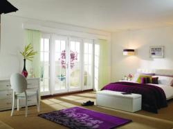 3000mm (10ft) Fully Finished WHITE 8 Lite - 1800 Pair + 2 x 600mm Sidelights:  Image