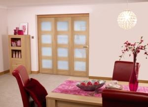 Oak Pre finished 4L Roomfold door (3 x 2