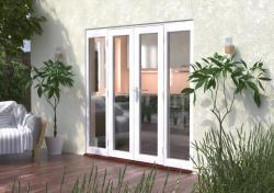2100mm (7ft) Classic French Doors - 1200 Pair + 2 x 450mm Sidelights:  Image