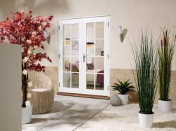 1200mm (4ft) Prefinished WHITE French Doors - 8 Lite:  Image