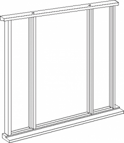 Oak Front Door Frame with sidelights - Vestibule:  Image