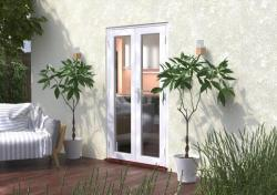 1200mm (4ft) Classic White French Doors:  Image