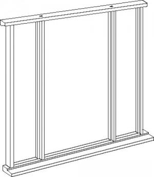 Universal Oak Vestibule Frame - Single Leaf up to 84 x 36:  Image