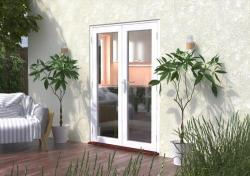 1500mm (5ft) Classic White French Doors:  Image
