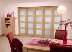 Oak Pre finished 4L Roomfold door (5 x 2