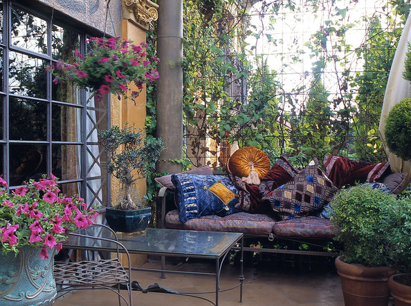 picture of moroccan style furniture on patio