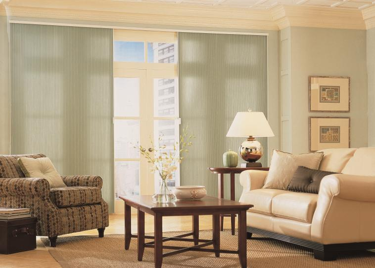 an image of patio doors with curtains