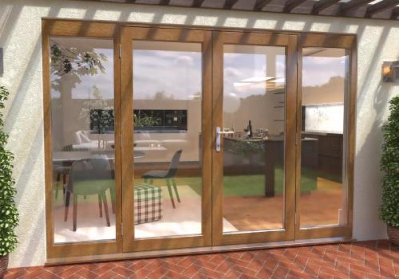 oak french patio doors