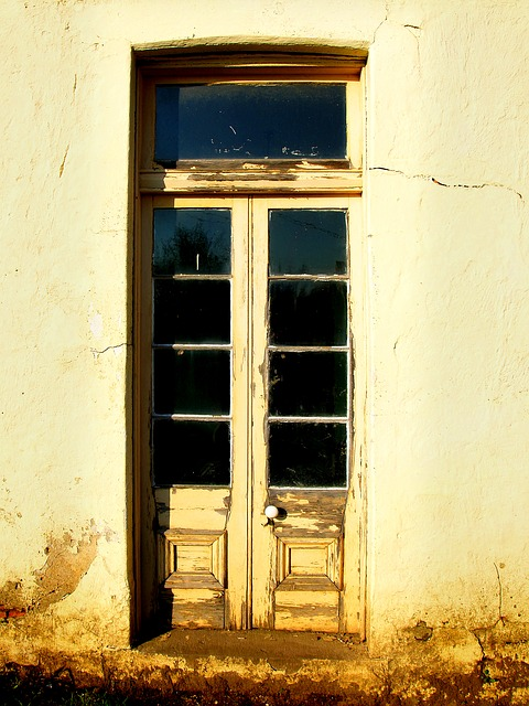 old french door