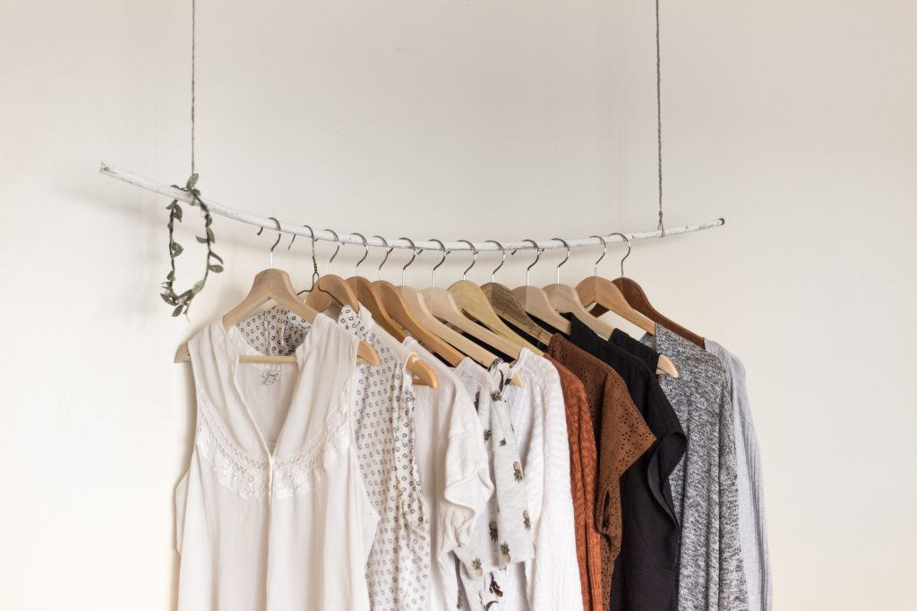 clothes storage rail