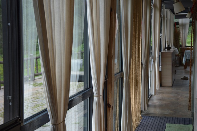 curtains dressing bifold doors