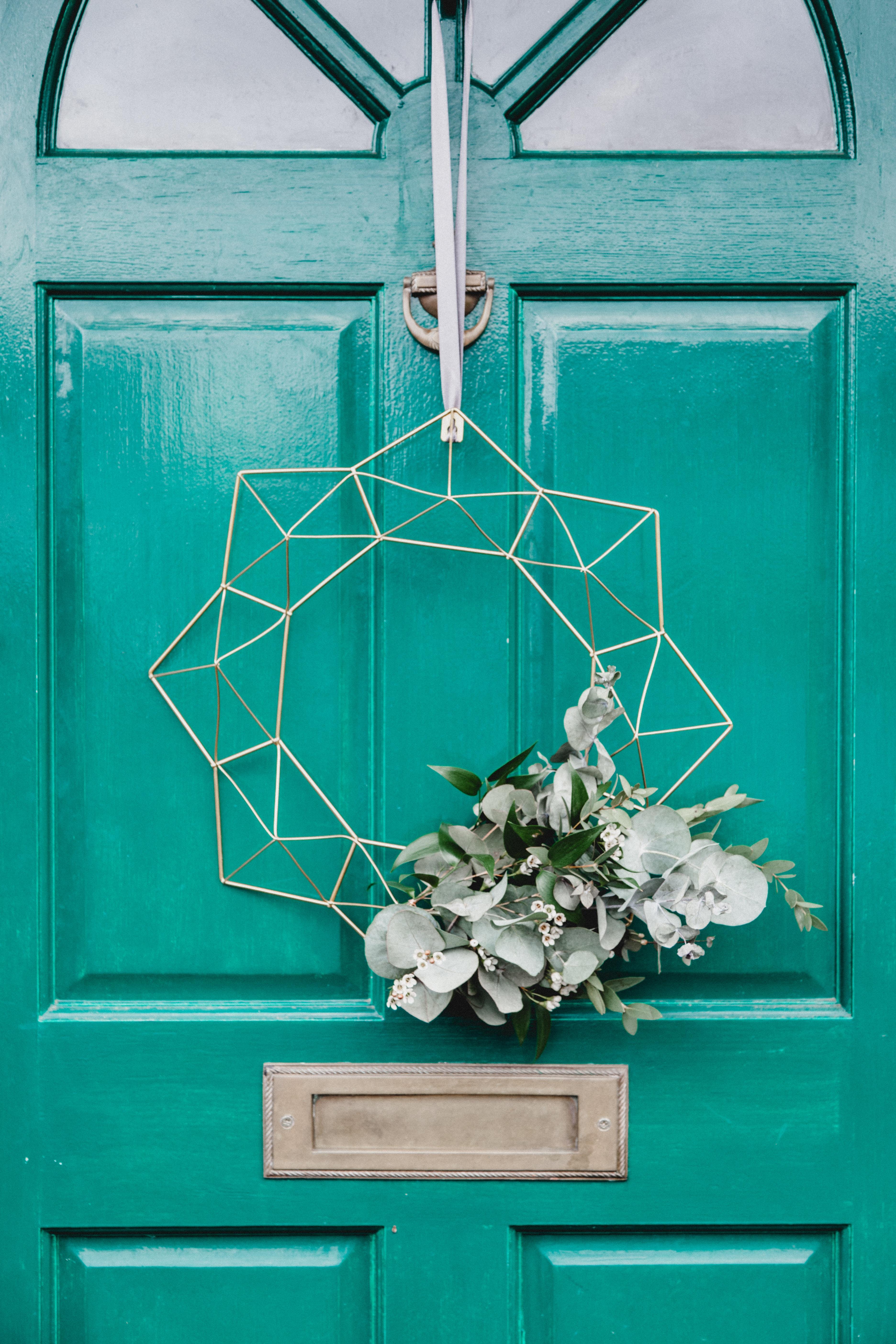 unglazed front door