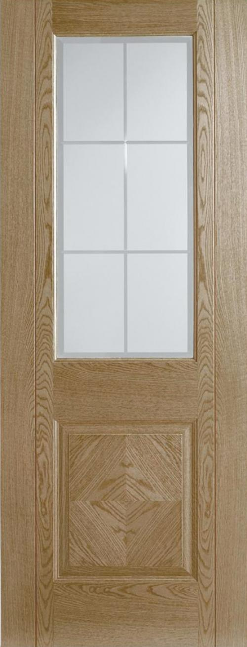 Valencia Oak Frosted Bevelled Prefinished Interior Door Express Doors