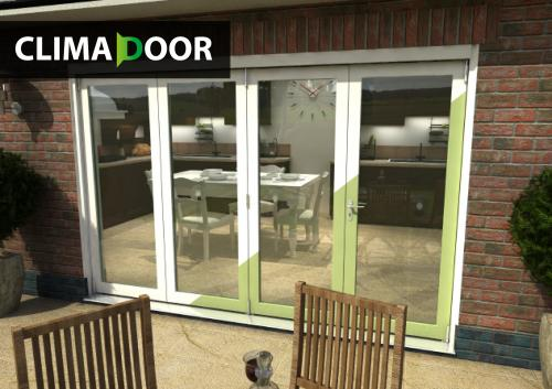 CLIMADOOR SELECT White Primed BiFold Doors: 54mm White primed finish External Doorset Image