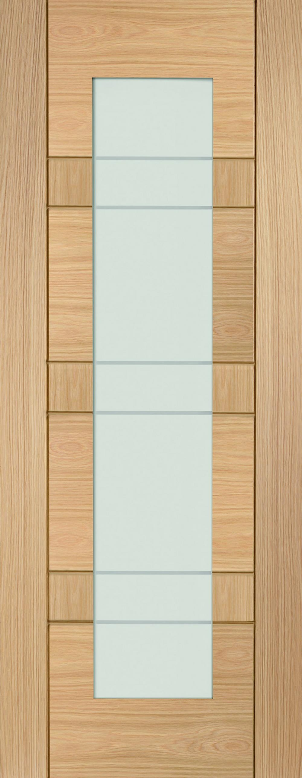 Latina Oak - Clear Etched Glass:  Image