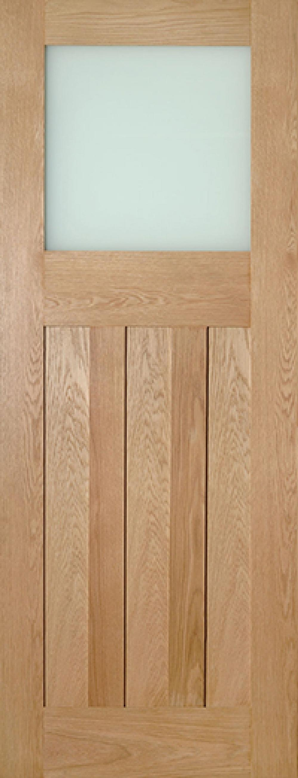 Cambridge Glazed Oak - Frosted Glass:  Image