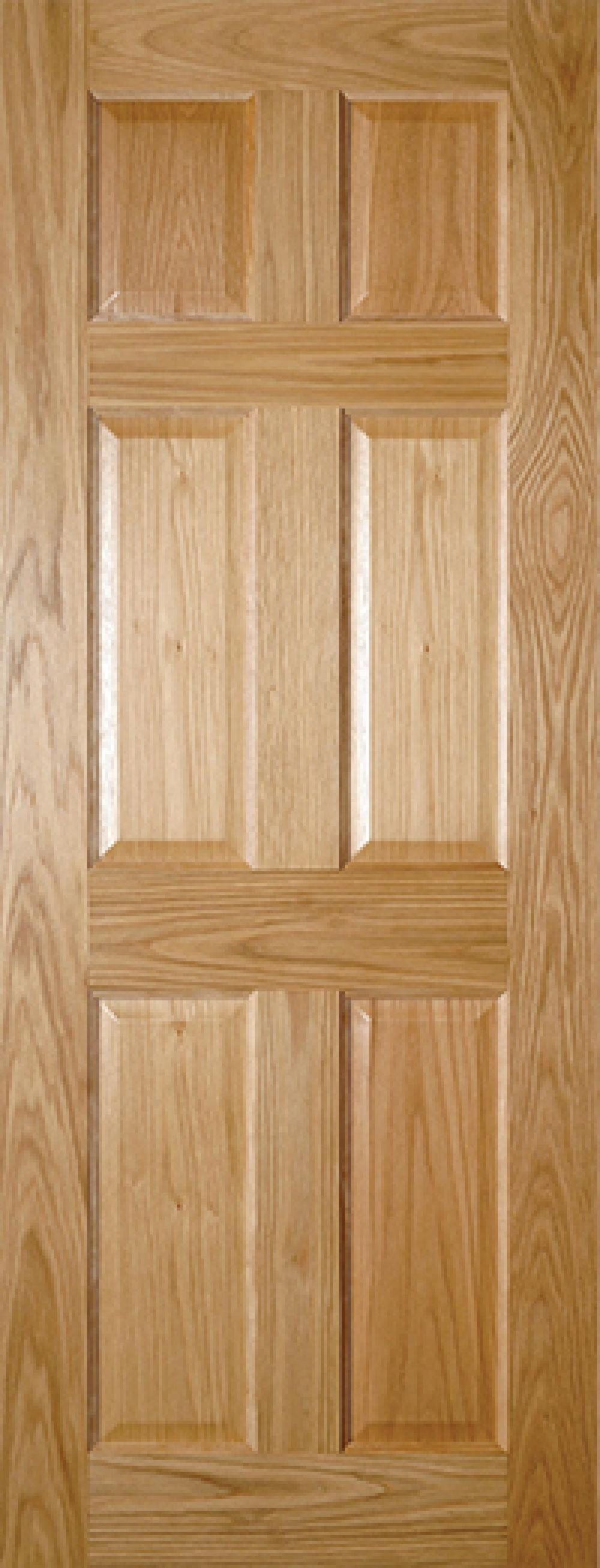 Oxford 6 Panel Oak Prefinished Interior Door Express Doors
