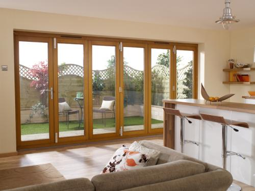 Lpd nuvu 4200mm 14ft oak bifold doors at express doors direct delivery in 5 working days planetlyrics Images