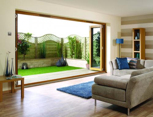 Oak Folding Sliding Doors - Unfinished: 44mm Unfinished Doorset Image