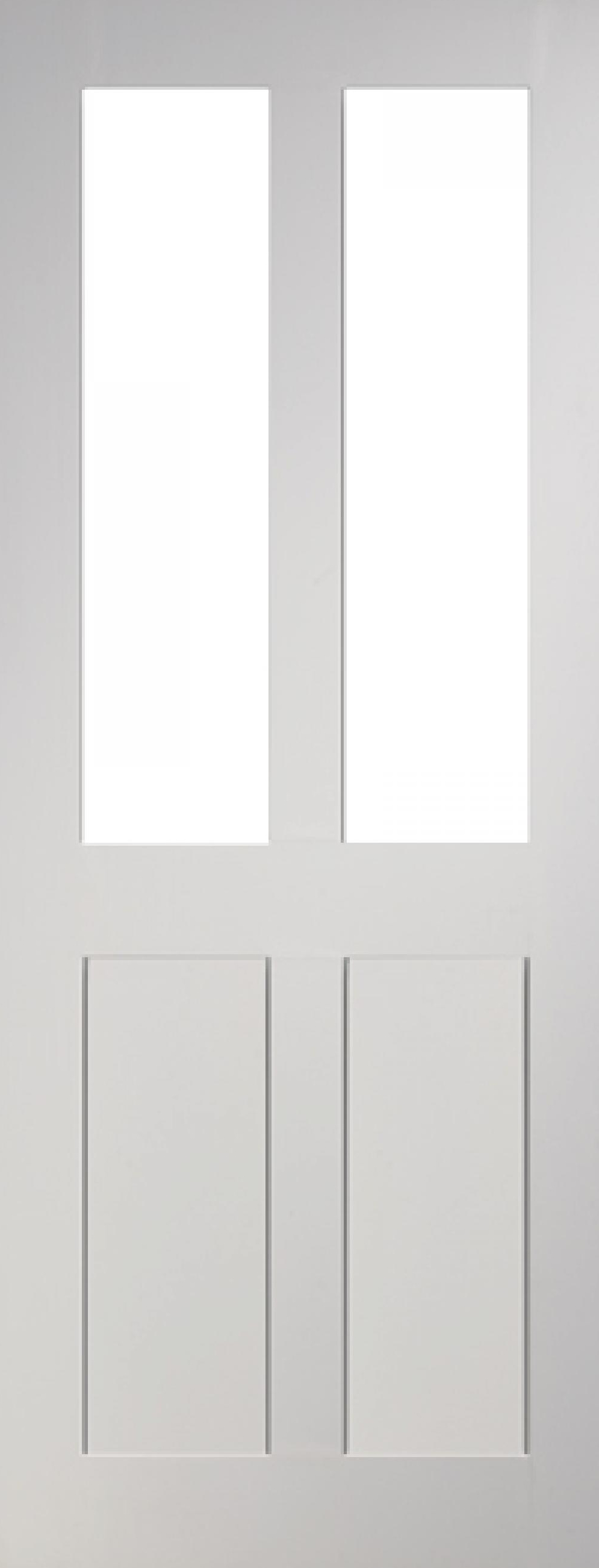 Eton Glazed 4 Panel White Interior Door Express Doors