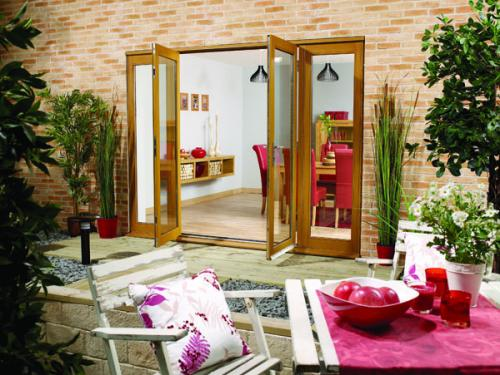 Lpd nuvu 2700mm 9ft oak french doors with sidelights at for 1500mm french doors