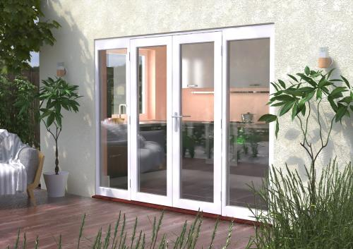 2700mm 9ft white french patio doors with sidelights for 1500 french doors