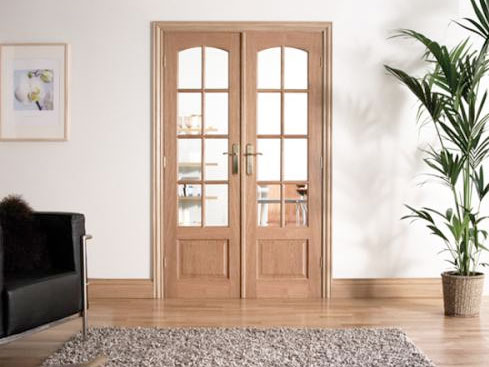 W4 oak interior french door set at express doors direct for Interior double french doors