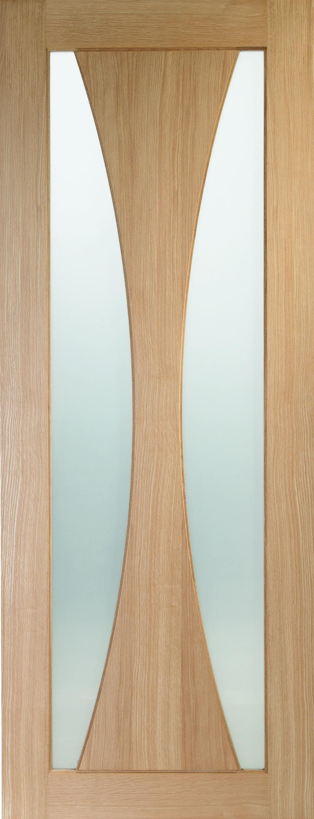 Verona Oak - Clear Glass Fire Door:  Image