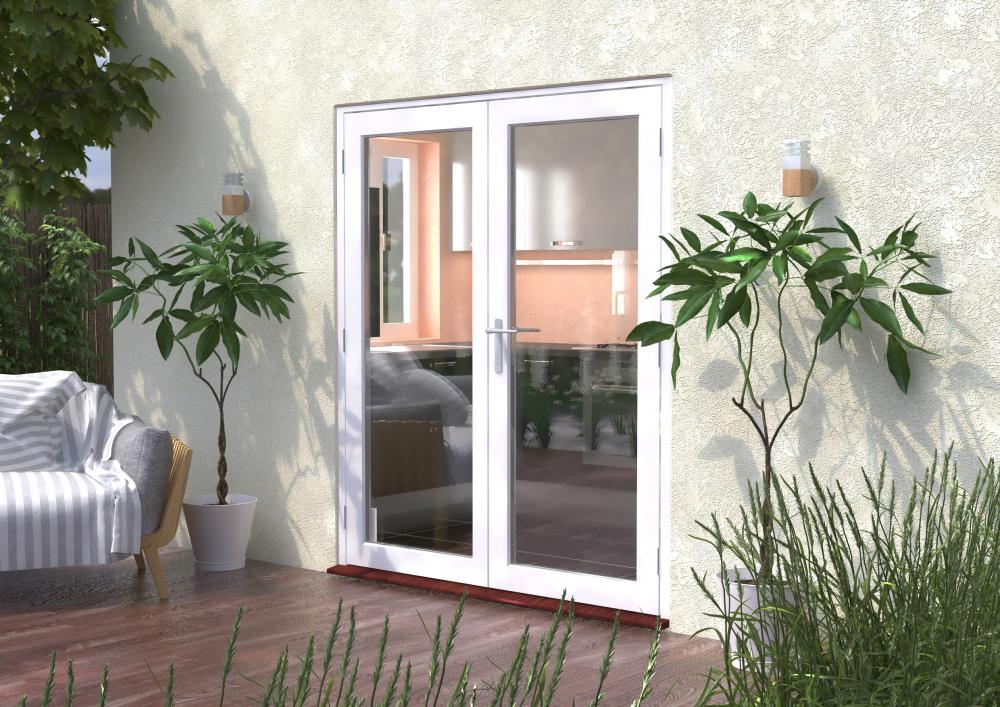 White Wooden French Doors 58mm Classic Express Doors