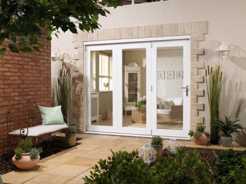 Nuvu 1800mm 6ft white folding patio door at express for 6 ft wide patio doors