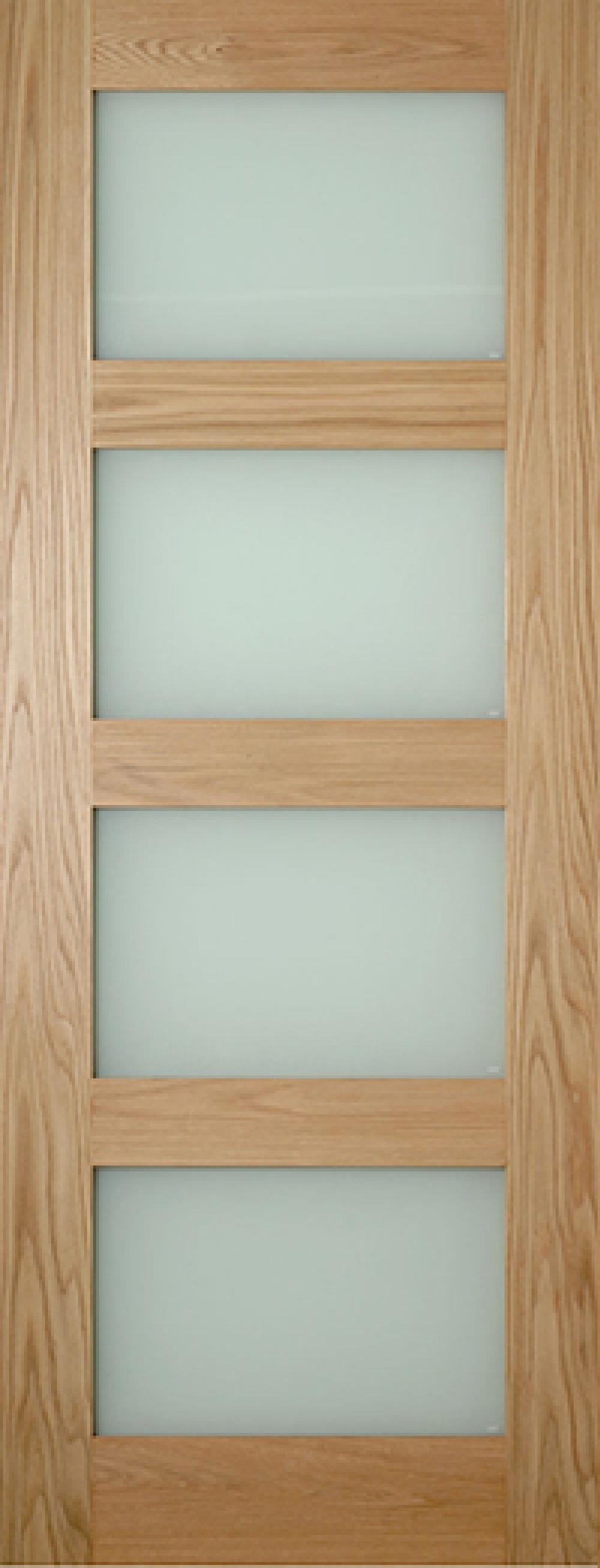 Coventry Glazed Oak Shaker - Frosted Glass:  Image