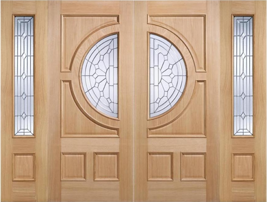 Empress Oak Grand Entrance With Sidelights Exterior Door