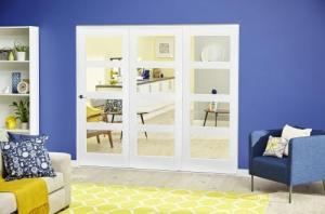 White 4L Roomfold Deluxe ( 3 x 762mm doors ),  Image