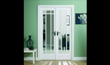 Manhattan W4 Interior French Door Set: Interior Room Divider with sidelight options Image
