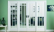 Manhattan W8 Interior French Door set: Interior Room Divider with sidelight options Image