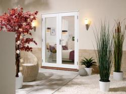 NUVU WHITE French Doors - Prefinished, Exterior French Patio Doors Image