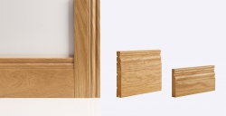 Georgian Door Lining 133mm x 30mm (removable stop included): Solid FSC certified finger jointed oak core Image