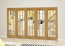 Lincoln Oak Roomfold Deluxe ( 5 x 686mm doors): Interior Folding Door with Low Level Guide Rail Image