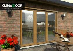 ClimaDoor 2400mm (8ft) Solid OAK sliding folding door,  Image