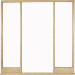 Solid Oak Vestibule Frame for Direct Glazing - Exterior, Door Frames Image