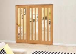 Aston Oak - 3 door Roomfold Deluxe (3 x 686mm doors),  Image