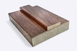 Walnut Shaker Door Lining 133mm x 30mm (removable stop included): Solid FSC Certified MDF core Image
