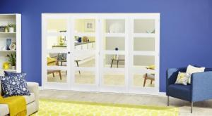 White 4L Roomfold Deluxe ( 4 x 610mm doors ),  Image