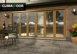 ClimaDoor 4200mm (14ft) Solid OAK Sliding folding Door,  Image