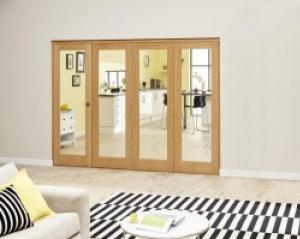 Prefinished P10 Oak Roomfold Deluxe (4 x 686mm doors),  Image