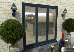 2100mm Grey Aluminium Bifold Doors - CLIMADOOR: 70mm Thermally Broken, Double Glazed Door Set Image