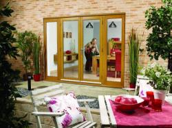 NUVU 2400mm (8ft) OAK French Doors with sidelights: 44mm Unfinished French Doorset Image