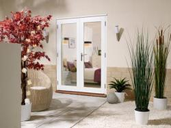 NUVU 1200mm (4ft) Patio doors: 44mm Fully Finished Doorsets Image