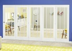 Lincoln White Roomfold Deluxe - Clear Glass, Interior Bifold Doors Image